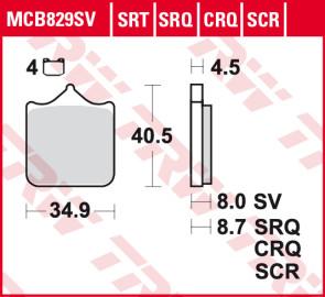 Bremsbeläge, Vorderachse, SRT Sinter Road & Track Sportmischung Belag, BMW S1000 RR, 09 --