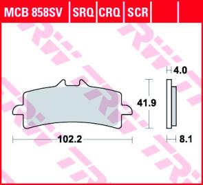 Bremsbeläge, Vorderachse, SRT Sinter Road & Track Sportmischung Belag, Aprilia RSV 4, 17 --